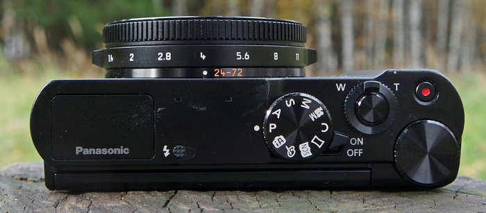 Panasonic DMC-LX15 верх