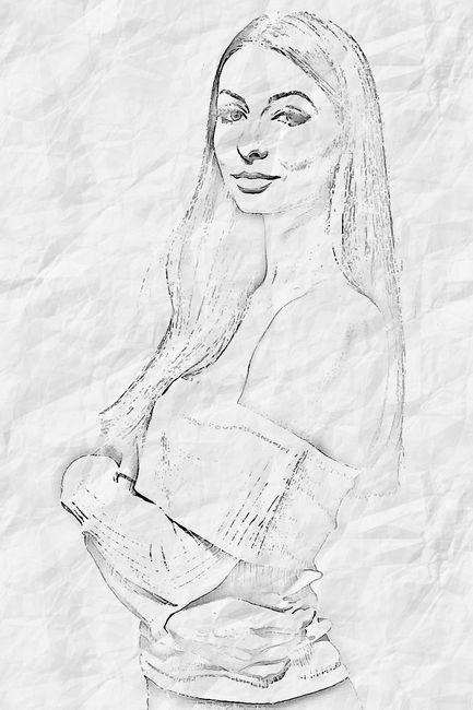 Рисунок на бумаге из фото