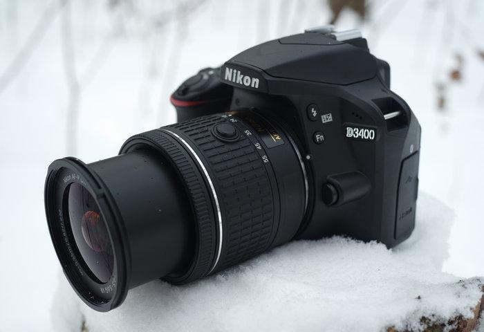 Nikon AF-P DX 18-55 mm f/3.5-5.6G VR в положении 18 мм