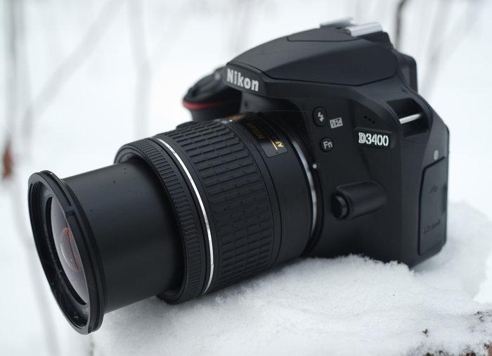 Nikon AF-P DX 18-55 mm f/3.5-5.6G VR в положении 55 мм