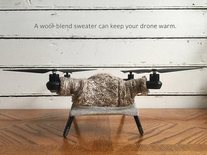 Свитер для дрона на Новый год