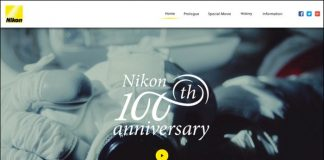 юбилейный сайт Nikon