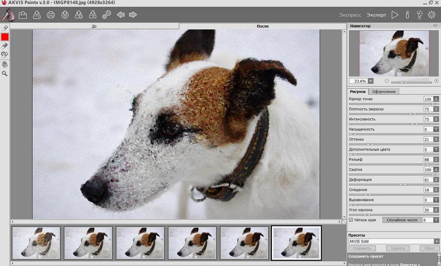 AKVIS POINTS 3.0 - эффект пуантилизма на фотографиях