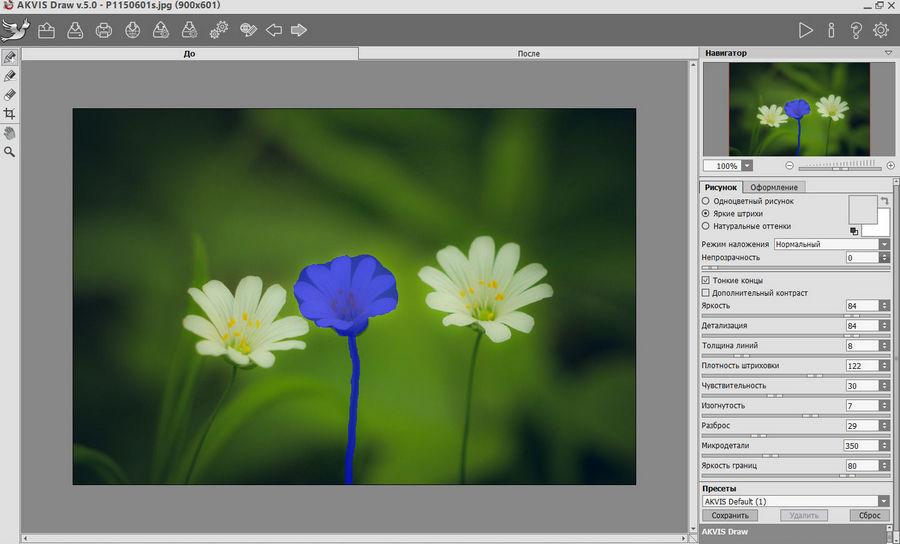 AKVIS Draw 5.0 - рисунки из фото с эффектами