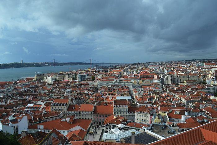 Лиссабон со смотровой площадки