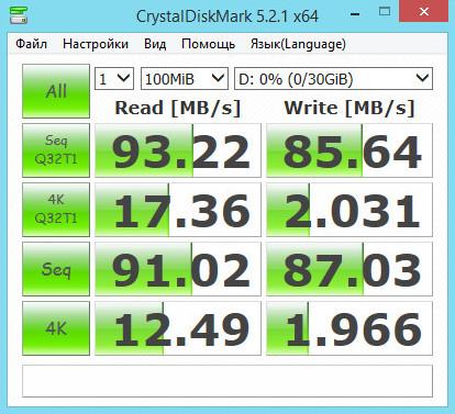Тест карты памяти microSD Toshiba EXCERIA PRO M501 32 Гб