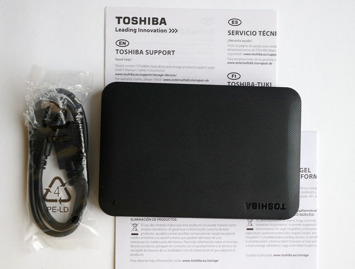 Toshiba Canvio Ready 2ТБ комплект