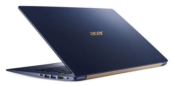 Acer представил в России ультратонкий ноутбук Acer Swift 5