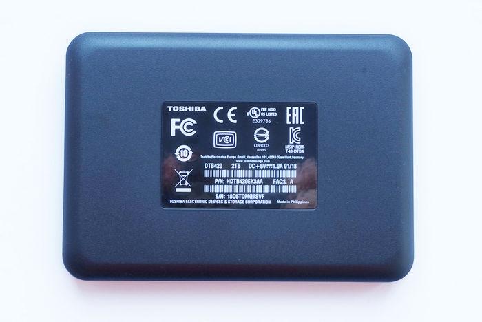 Обзор внешнего диска Toshiba Canvio Basics 2 ТБ