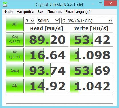 Тест карты памяти microSD Toshiba EXCERIA™ SD-CX16UHS1 16 Гб