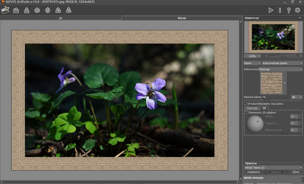 AKVIS ArtSuite 14 - творческие фоторамки для фотографий