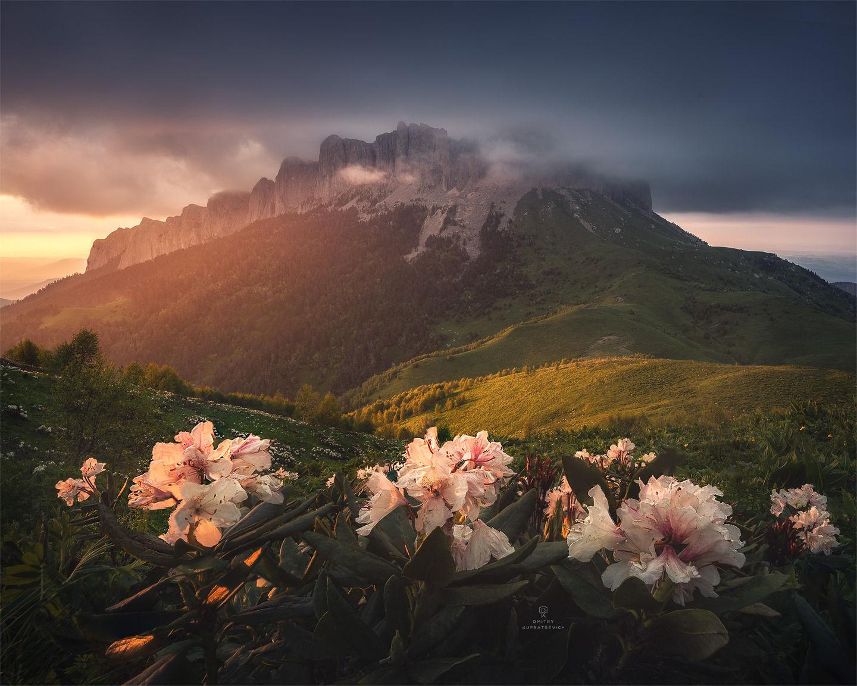 Вид на гору Большой Тхач. Республика Адыгея. Россия. Canon 6D + Irix 15mm f/2.4, iso 100, 1/6, f/11