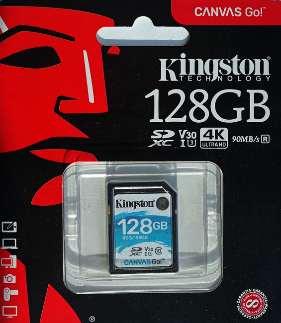 Kingston Canvas Go! 128 Гб (SDG/128ГБ)