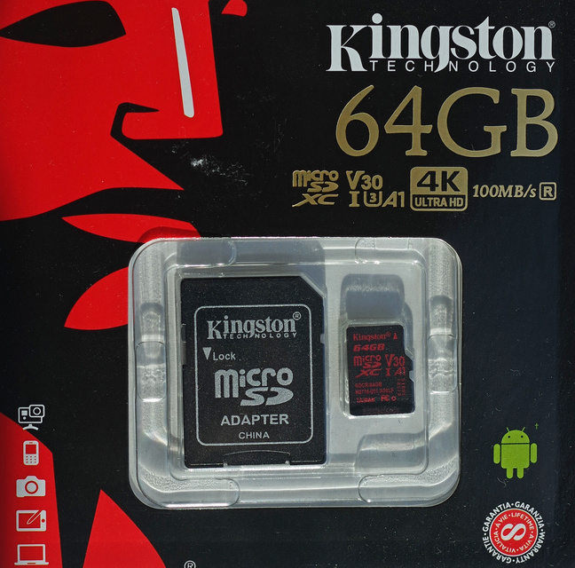 Kingston Canvas React 64 Гб (SDCR/64gb)