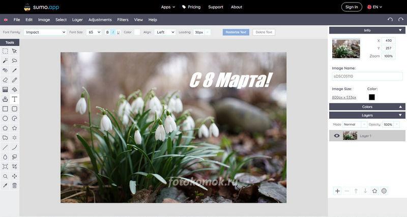 Графический редактор онлайн - альтернатива редактору на компьютере