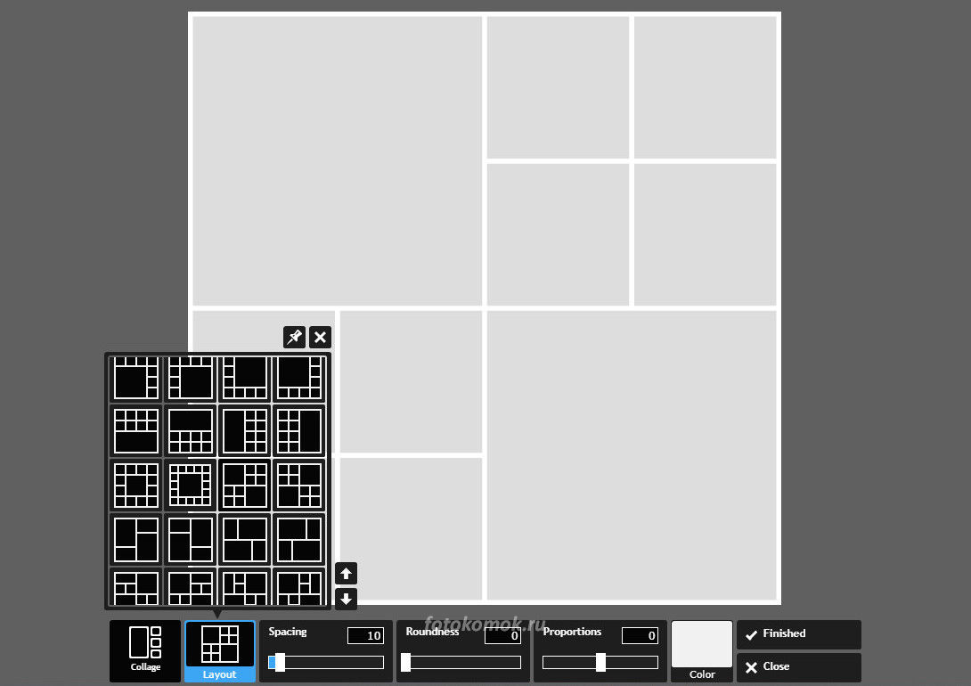 Фотоколлаж онлайн - выбираем сетку