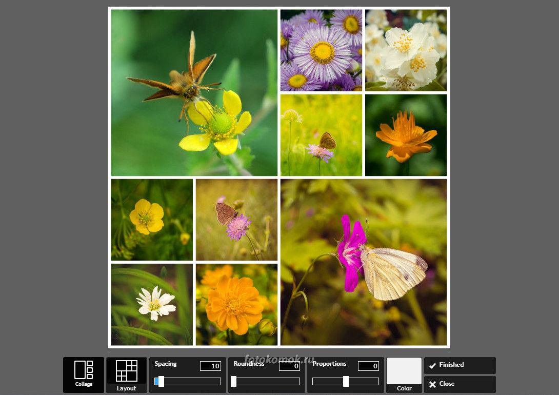 Фотоколлаж онлайн - заполняем изображениями