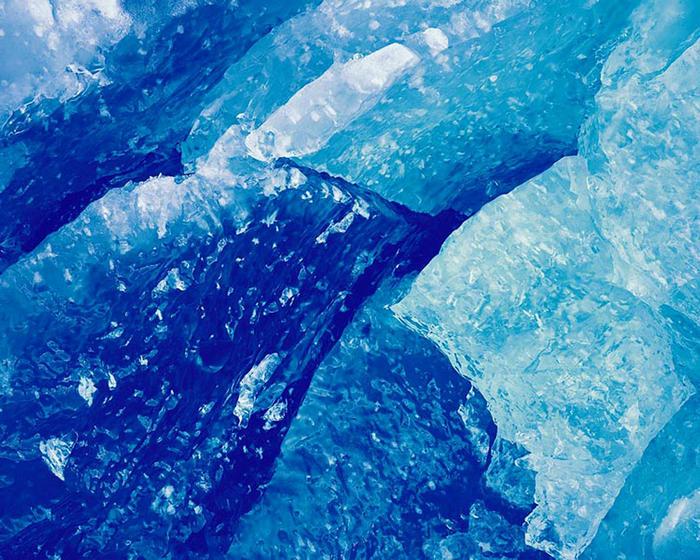 Christopher Burkett Blue Glacial Ice, Alaska
