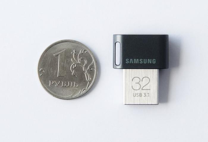 Размеры флешки Samsung USB 3.1 Flash Drive FIT Plus 32 Гб (MUF-32AB/APC)