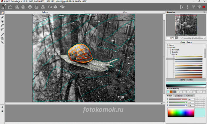 Раскрашиваем черно-белое фото
