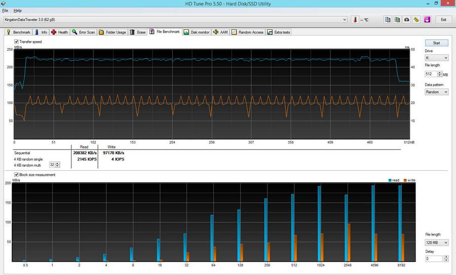 F Bench Kingston DataTreveler Kyson 64 Гб