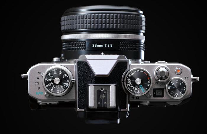 Nikon Z fc - вид сверху