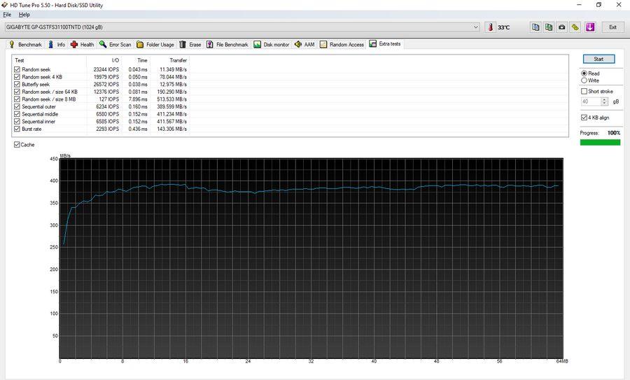 Extra test File benchmark GIGABYTE 1000 GB GP-GSTFS31100TNTD