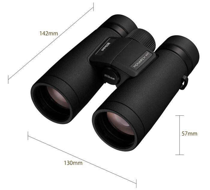 Бинокль Nikon MONARCH M7 размеры